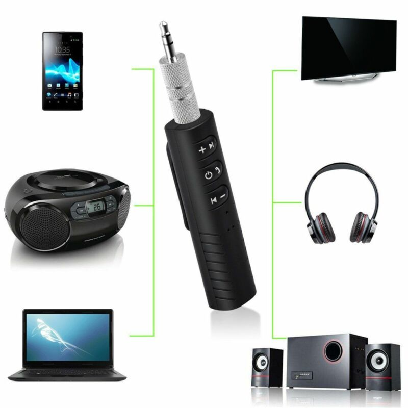 Handsfree Wireless Car Bluetooth Receiver 3.5mm AUX Music Stereo Audio Adapter 2