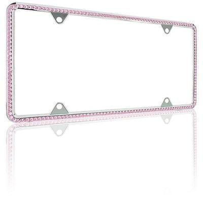 LIGHT PINK DIAMOND Bling Glitter Crystal RhineStone License Plate ...
