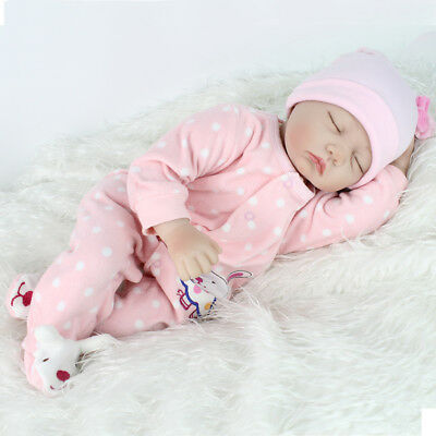 22'' Lifelike Reborn Baby Girl Doll Handmade Newborn Dolls + Clothes Xmas Gifts 6