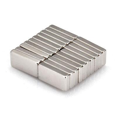 20pcs Rechteckig Starke Neodym Quader Magnete N52 NdFeB Permanentmagnet 10x5x2mm