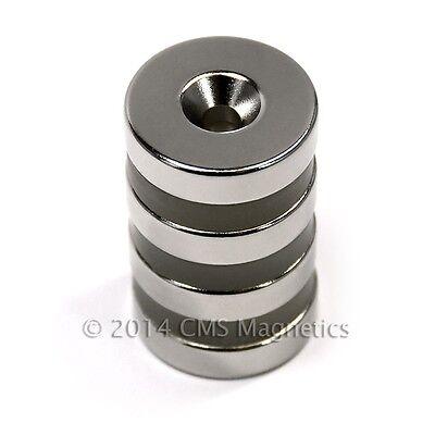"CMS Magnetics® 50 picecs Neodymium Magnets N42 3//4x1//8/"" w//#8 Countersunk S Pole"