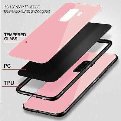 Samsung Galaxy S10 S9 Plus S10e Note 9 Case Slim Bumper Cover Tempered Glass 11