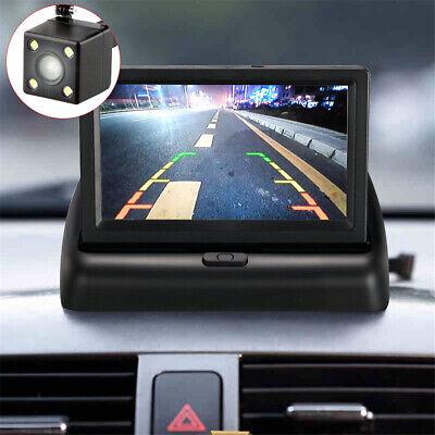Wasserdicht Auto Rückfahrkamera + 4.3'' klappbar Farbig LCD Monitor Einparkhilfe 9
