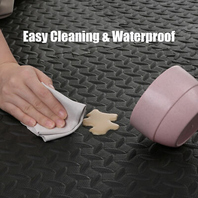 Extra Thick Gym Flooring Interlocking Floor Mats EVA Soft Foam Mat Yoga Tiles 4
