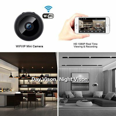 Mini Spy Camera Wireless Wifi IP Home Security HD 1080P DVR Night Vision Remote 8