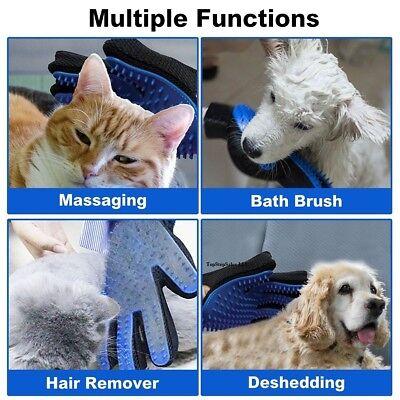 Pet Hair Brush Silicone Comb Dog Cat Grooming Massage Soft Bath Shedding Glove