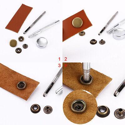 Fermoir bouton attache en fer 12 mm 10 sets métal noir charcoal boutons pression