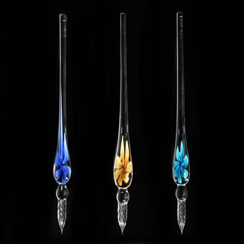 Sternenhimmel Glasfüller Glasschreiber Glasfeder Kristallglas Füllfederhalter
