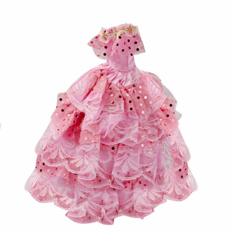 22pcs/set Fashion Casual Party Dress Wedding Gown For Barbie Dolls Random Color 12
