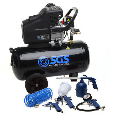SGS 50 Litre Direct Drive Air Compressor & 5 Piece Tool Kit - 9.6CFM, 2.5HP, 50L 3