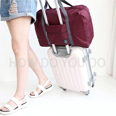 Portable Foldable Travel Storage Luggage Carry-on Big Hand Shoulder Duffle Bag 11