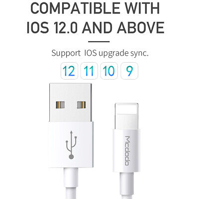 Mcdodo Apple MFI Certified Lightning USB Sync Data Cord Cable iPhone 8 7 XS Max 3
