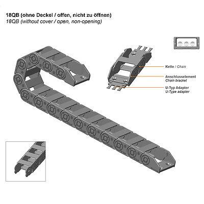 1M, Energiekette 18x37mm, R38, nicht zu öffnen - Schleppkette - Kabelführung