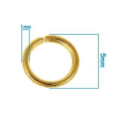 collier Bracet 100 Anneaux de jonction Gunmetal 5 mm ouvert 5mm creation bijoux