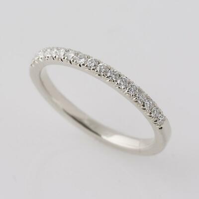 Damen Eternity Diamant Memory Ring Memoirering Weißgold Finish Bandring gr 50-64
