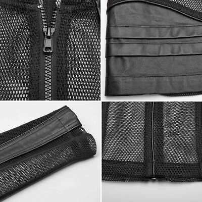 PUNK RAVE DYNAMIC Mesh Jacket Netzjacke Transparent Herren