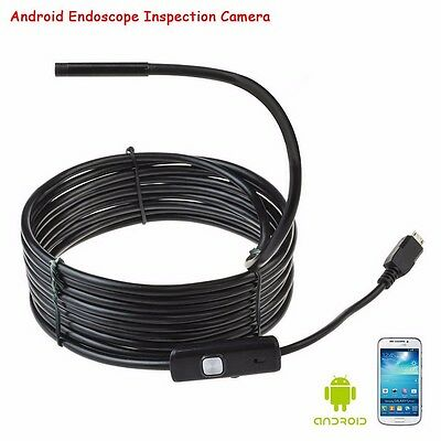 7mm / 2m 5m Waterproof Android Endoscope Borescope Snake Inspection Video Camera 4