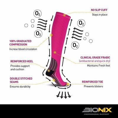 Compression Socks Anti Fatigue Calf Sleeves Flight Travel Running Men Ladies