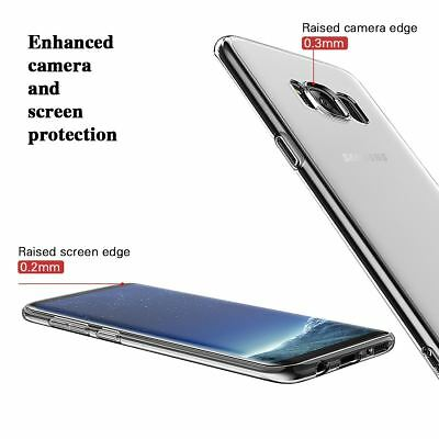 For Samsung Galaxy S7 S8 S9 Case Shockproof Silicone Protective Clear Gel Cover 6