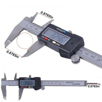 "Digital Electronic Gauge Plastic Steel Vernier Caliper 150mm 6"" Micrometer"