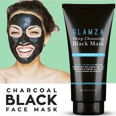 Glamza Charcoal Blackhead Remover Peel Off Facial Cleaning Black Face Mask 50g 3