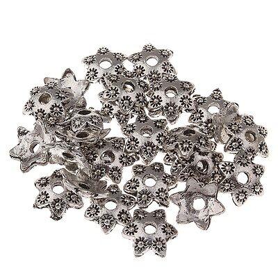 40 Perlenkappen Perlkappen 15mm Tibet Silber Spacer Zwischenperlen BEST M234