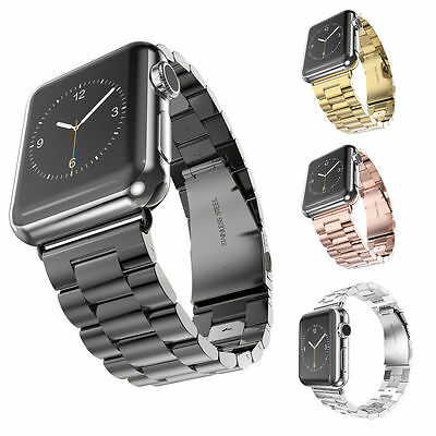 UK Stainless Steel Strap Watch Band+Adapter+Case For Watch iWatch Series 3 & 2&1