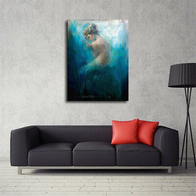 Mermaid Series Bare Home Decor Room Canvas Print Picture Wall Art Painting New 3