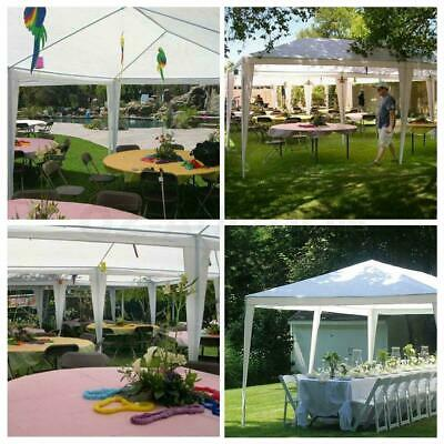 3x4M Gazebo Waterproof Outdoor Garden Gazebo Marquee Patio Canopy PE Party Tent 10