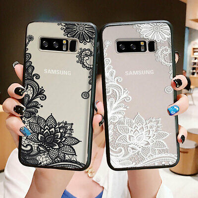 For Samsung Galaxy Note 10 Plus S10 Plus S10e Flower Clear Silicone Case Cover 4