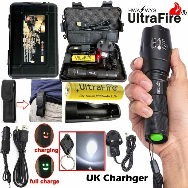 90000lm Genuine Ultrafire G700 CREE LED Tactical Flashlight Military Grade Torch 2