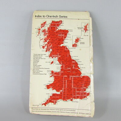 UK England 1968 VTG OS Ordnance Survey one-inch map 180 The Solent 2
