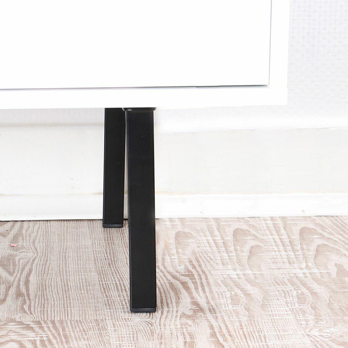11101-00056= 4x Möbelfuß eckig H 700mm schwarz Elementsystem Tischbein Tischfuß