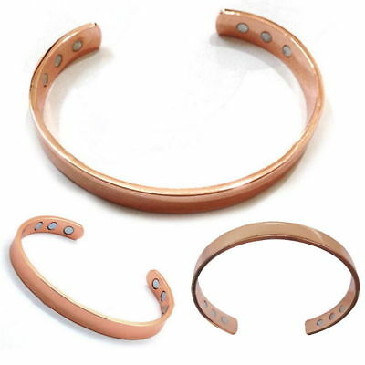 Copper Bracelet Magnetic Healing Bio Therapy Arthritis Pain Relief Bangle Cuff 8
