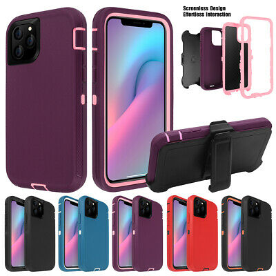 For iPhone 11 Pro Max Shockproof Hybrid Heavy Duty Case Full Cover W/ Belt Clip 2