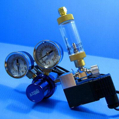 CO2 Pression Régulateur System- magnétique Solenoid Bubble tank contre