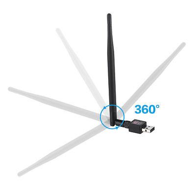 ADATTATORE USB PC WIFI 900 MBPS ANTENNA CHIAVETTA WIRELESS Internet WIFI DONGLE 3