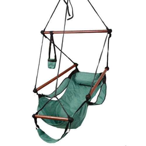 Merveilleux 5 Of 12 Hammock Hanging Chair Outdoor Air Deluxe Sky Swing Chair Solid Wood  250lb New