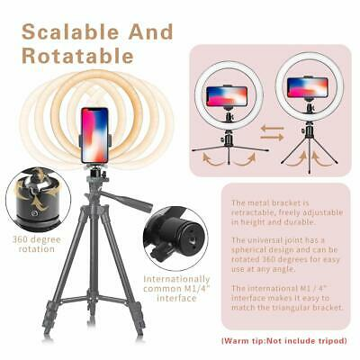 """10"""" LED Ring Light with Stand for Youtube Tiktok Makeup Video Live Phone Selfie 4"""