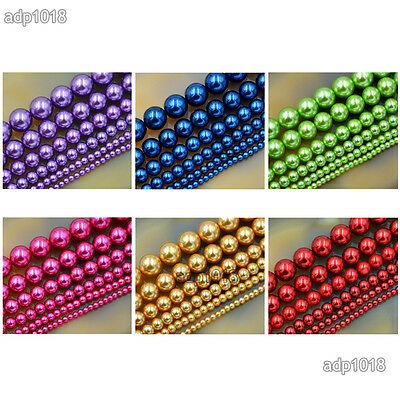 Wholesale Top Quality Czech Glass Pearl Round Beads 16'' 3mm 4mm 6mm 8mm 10mm 5