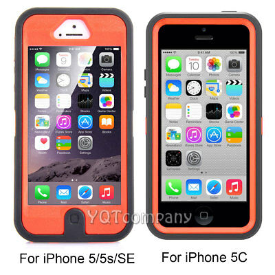 For Apple iPhone 5C 5 5S SE Shockproof Hybrid Rugged Hard Armor Case+Accessories 2