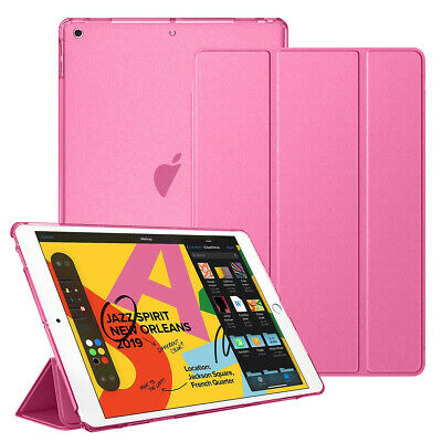 "For New Apple iPad 7th Generation 10.2"" Smart Shell Translucent Back Tablet Case 11"