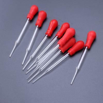 10PCS 9cml long Reusable Laboratory Glass Pipette Dropper Rubber Head 9