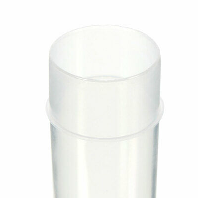 20/40/100x 5ml Chemistry Plastic Test Tubes Vials with Seal Caps Pack Container 9
