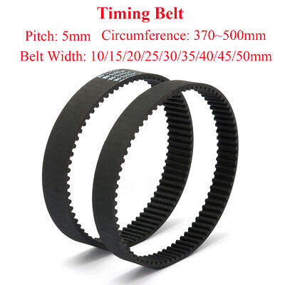 HTD-5M Timing Belt 600mm-695mm Perimeter 15mm-30mm Width Ring Rubber Belt