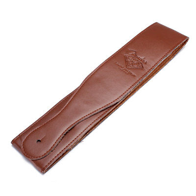 Adjustable Brown Soft Leather Thick Strap Belt for Electric Acoustic Guitar Bass 3