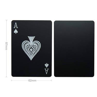 Creative Waterproof Black Plastic PVC Poker Magic Table Board Game Playing Cards 10
