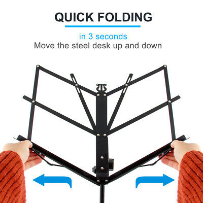 Adjustable Music Stand Holder Foldable Sheet Tripod Base Metal with carry bag 7