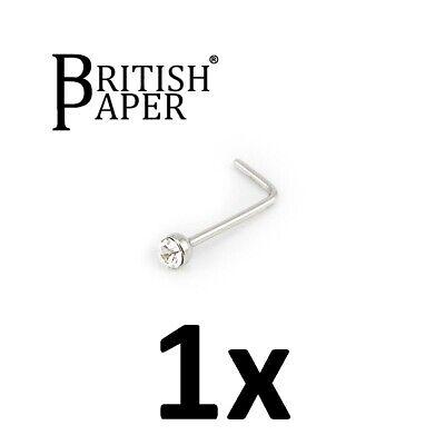 Uk Silver Nose Stud Straight I L Screw Shape Surgical Steel Pin Set Bar Piercing 6