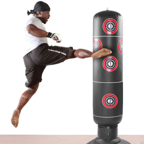 Adult Free-Standing Inflatable Punching Bag Stand Speed Boxing Training 160CM SP
